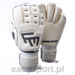 Rękawice bramkarskie Football Masters White Clima Contact RF JUNIOR